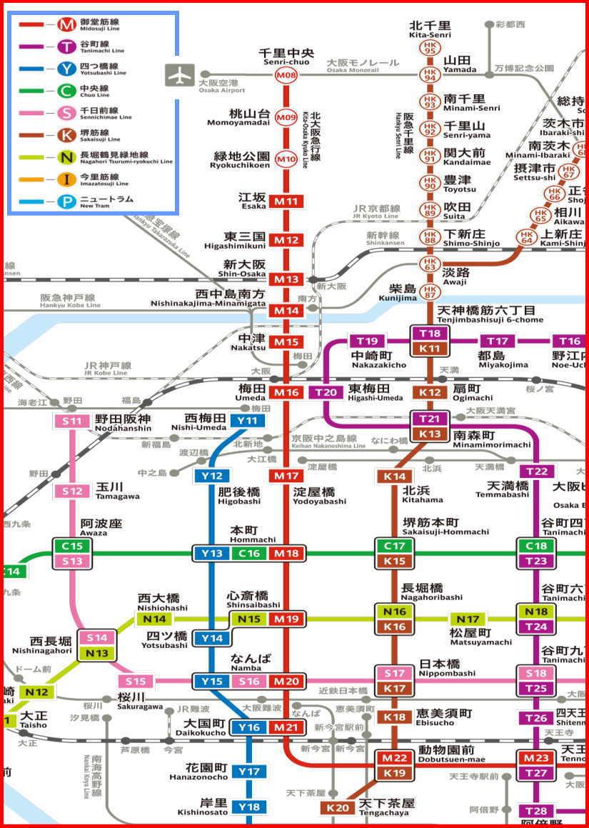 大阪 メトロ 路線図 地下鉄沿線図