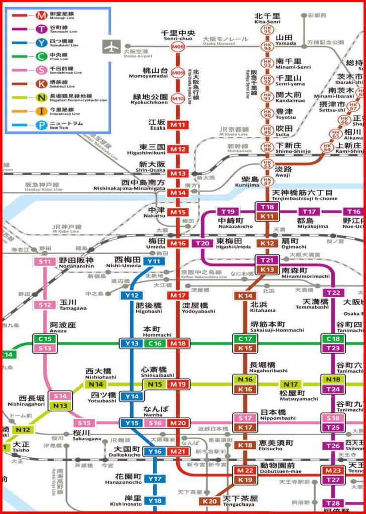 大阪 沿線マップ 地下鉄路線図